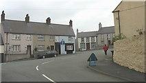 SH3568 : Sgwar Bodorgan Square, Aberffraw, from Stryd Llywelyn Street by Eric Jones