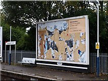 TQ2575 : FT poster, Wandsworth Station by Derek Harper