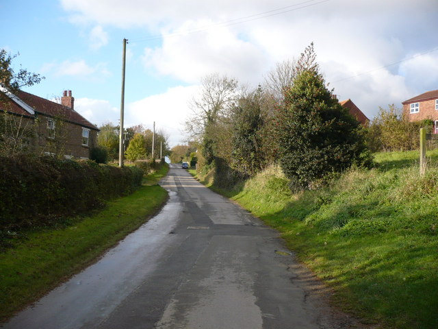 The lane which runs through the hamlet of Whenby