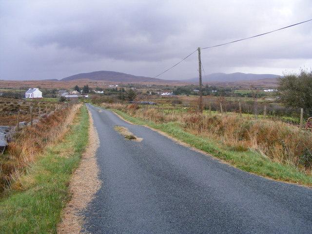 Looking east along minor road - Drumlaghdrid Townland