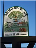 TQ7462 : Blue Bell Hill Village Sign by David Anstiss