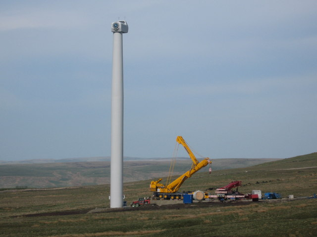 Turbine Tower No 20 during construction
