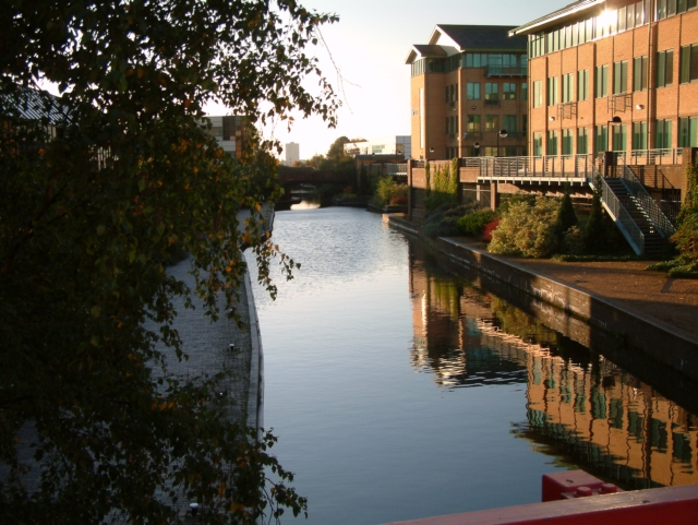 One of Birmingham's many canals.