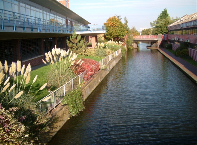 One of Birmingham's many canals