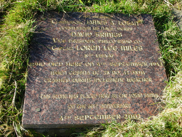 Carntogher: Maghera. Plaque for persons killed in World War Two air crash