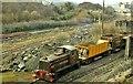J4498 : Ballast train at Magheramorne by Albert Bridge