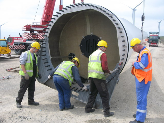 The Final Turbine Blade for Tower No 23