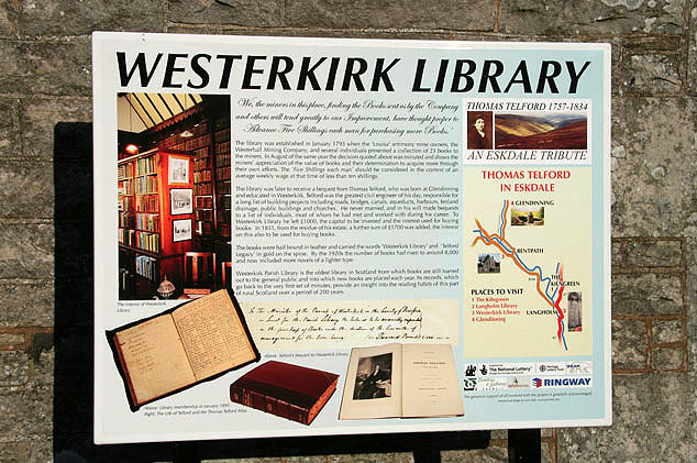 Westerkirk Library information board