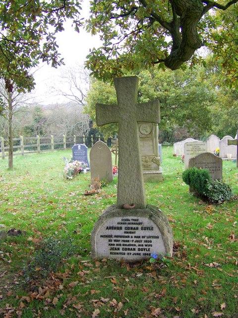 Grave of Sir Arthur Conan Doyle, All Saints Church, Minstead