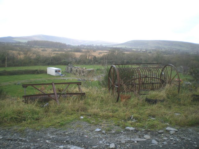 Abandoned farm machinery