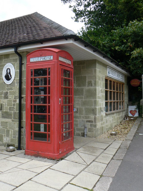 Wren's community shop and telephone box