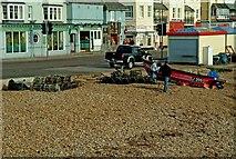 SZ9398 : Lobster fishing at Bognor Regis by P L Chadwick