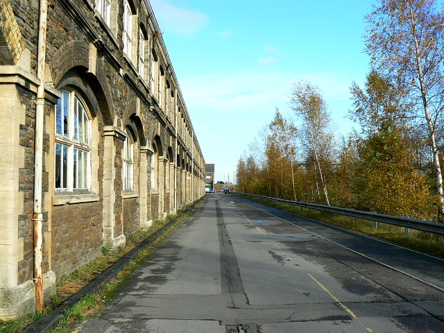 Former Great Western Railway factory and trees, Swindon