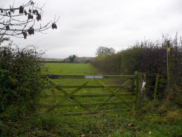 The Bridleway that runs west of Rudston