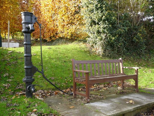 Restored hand pump in Boynton village