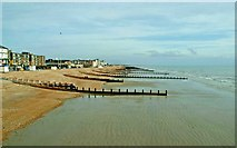 SZ9398 : Bognor Regis beach east of pier by P L Chadwick