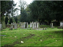 TQ2475 : All Saints Church, Fulham, Graveyard by Alexander P Kapp