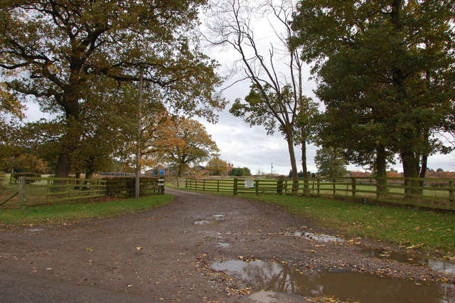 Vicar's Moor Farm entrance