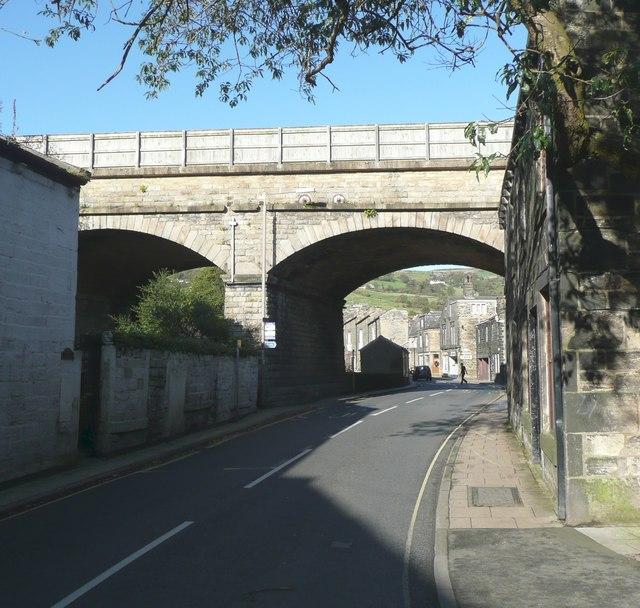 Railway viaduct, New Road, Mytholmroyd