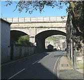 SE0125 : Railway viaduct, New Road, Mytholmroyd by Humphrey Bolton
