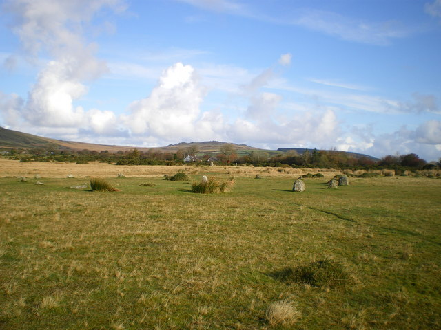 Looking NNE from Gors Fawr stone circle
