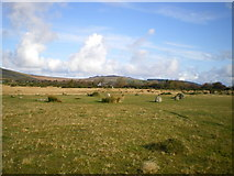 SN1329 : Looking NNE from Gors Fawr stone circle by Richard Law