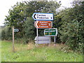 TM3764 : Signpost on A12 at Kelsale cum Carlton by Adrian Cable