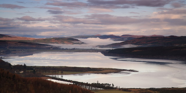 Kyle of Sutherland from Struie Hill viewpoint.