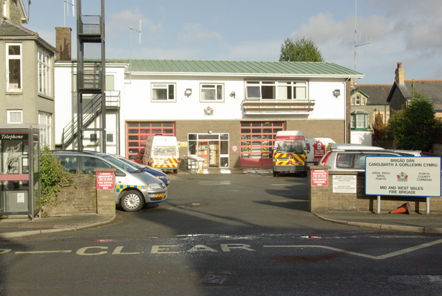 Fire Station from Garth Road