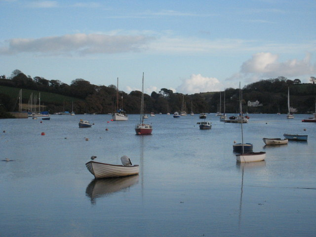 Looking down Mylor Creek at high tide