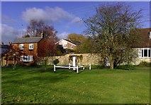 SP7433 : Village Pump, Thornborough by mick finn
