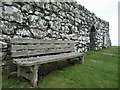 NG2261 : Bench at Trumpan Church by John Allan