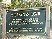 SH5932 : The welcoming sign for Y Lasynys Fawr by David Medcalf