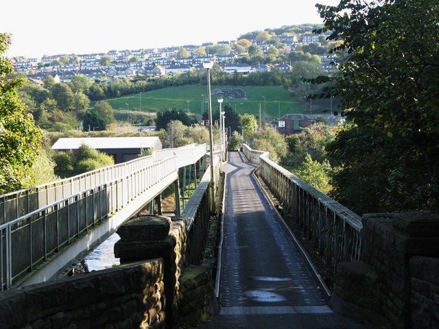 """Ovingham bridge, """"The Badger"""" and (part of) Prudhoe"""