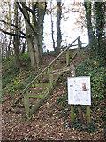 TG0723 : Information board beside steps by Evelyn Simak
