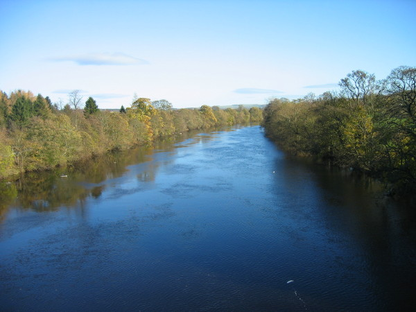 River North Tyne from Chollerford Bridge