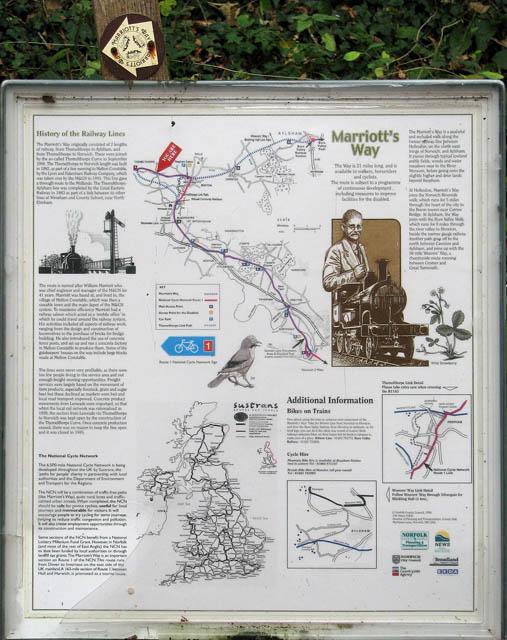 Marriott's Way - Information board