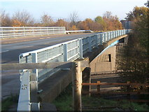 TM0559 : Bridge over the A14 by Andrew Hill