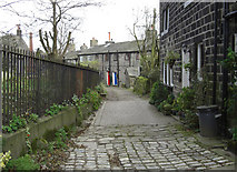 SD9828 : Church Lane, Heptonstall by michael ely