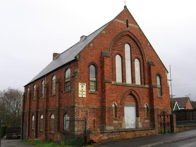 Pleasley - Chapel near Pit Lane