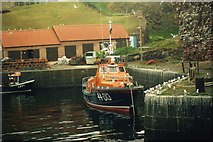 NT6779 : The Dunbar Lifeboat before it was moved to Torness by Iain Lees