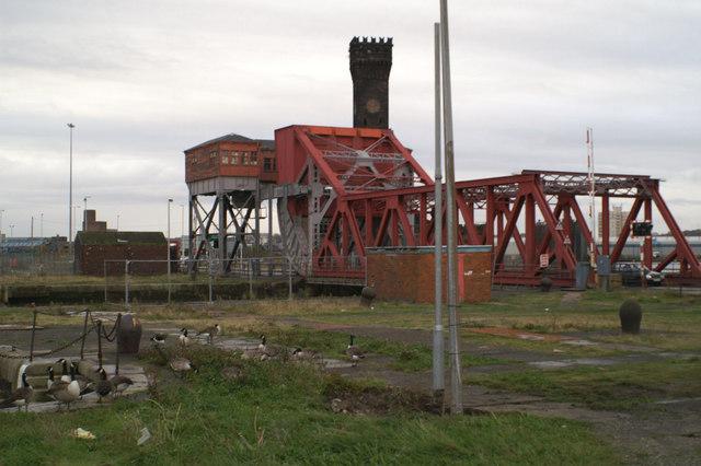 Bascule bridge, between Alfred Dock and the East Float