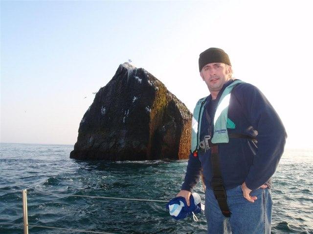 Andy Strangeway - Island Man in front of Rockall