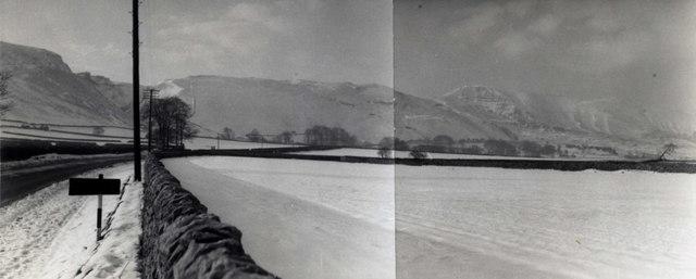 Heading west from Castleton - winter 1959