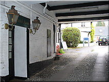 TQ1649 : White Horse Hotel Yard by Colin Smith