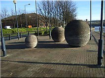 NZ2362 : Public artwork on the north bank of the Tyne by Oliver Dixon