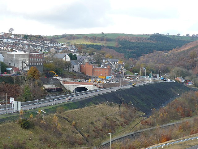 Northern end of the Bargoed bypass