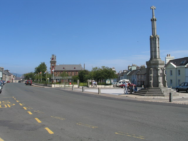 North Main Street and the Market Square, Wigtown
