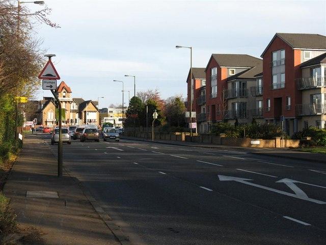 The A902 Maybury Road, at Barnton