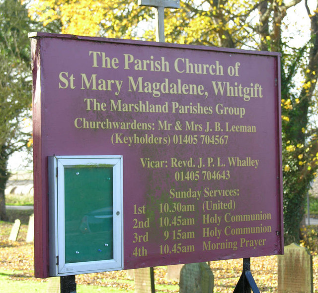 Notice Board, Whitgift Church
